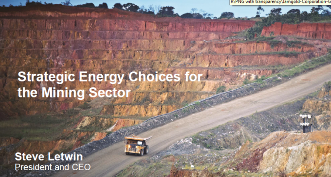 Strategic Energy Choices for the Mining Sector