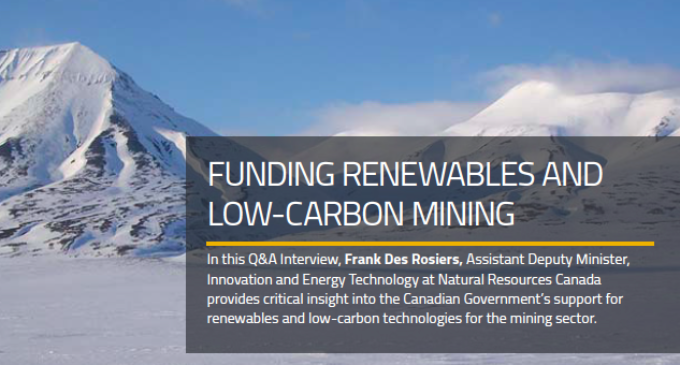 Funding Renewables and Low-Carbon Mining
